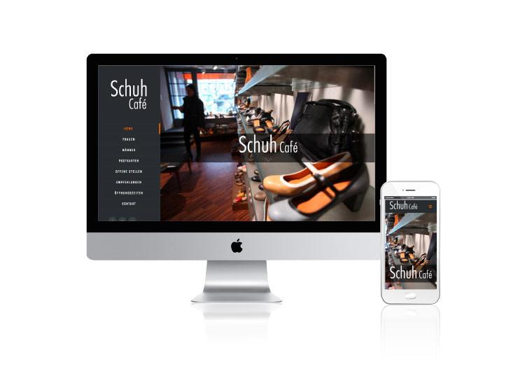 Referenzkunde Schuh Café Zürich Online-Auftritt
