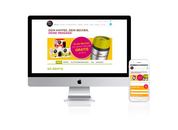 Referenzkunde Baudek & Schierhorn Markenaktion für Nestlé Dolce Gusto