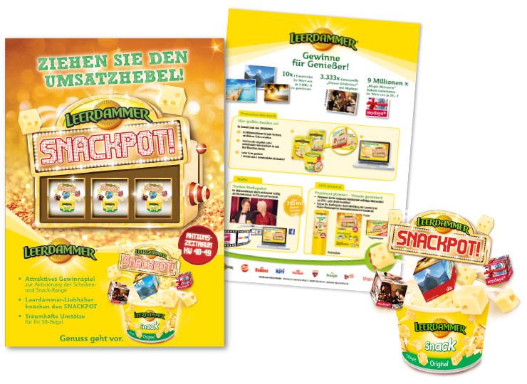 Referenzkunde Leerdammer Snackpot Kampagne 2