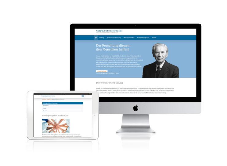 Referenzkunde Werner Otto Stiftung Online-Auftritt